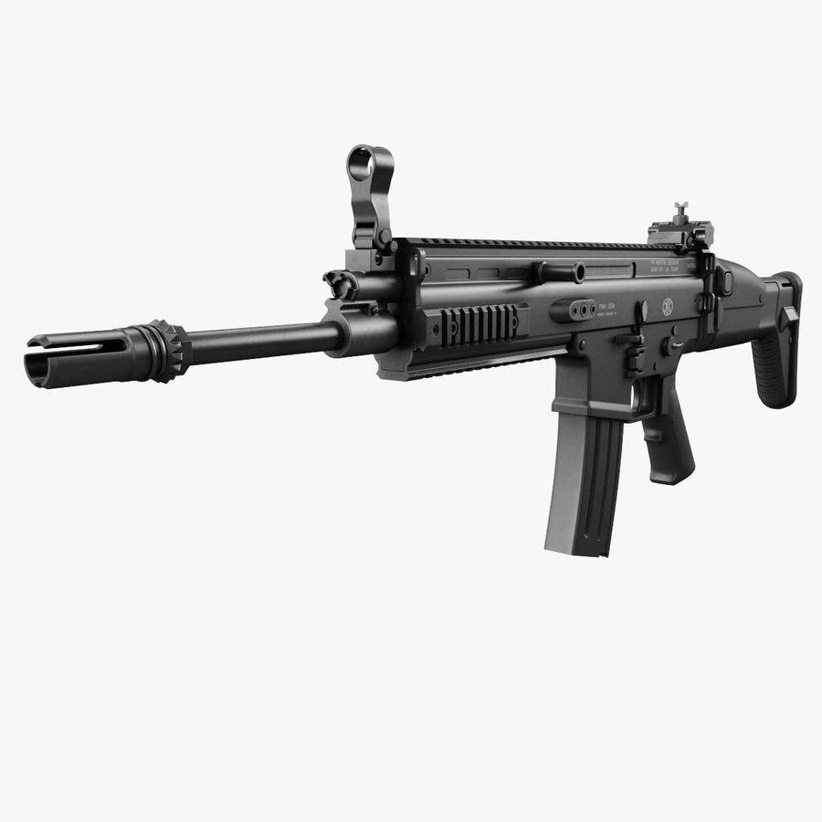 Assault Rifle SCAR royalty-free 3d model - Preview no. 8