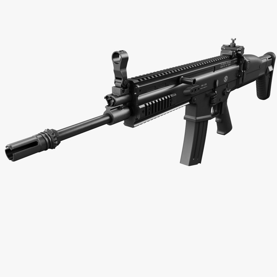 Assault Rifle SCAR royalty-free 3d model - Preview no. 1
