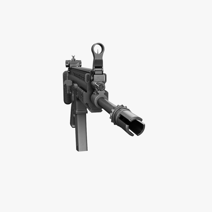 Assault Rifle SCAR royalty-free 3d model - Preview no. 6