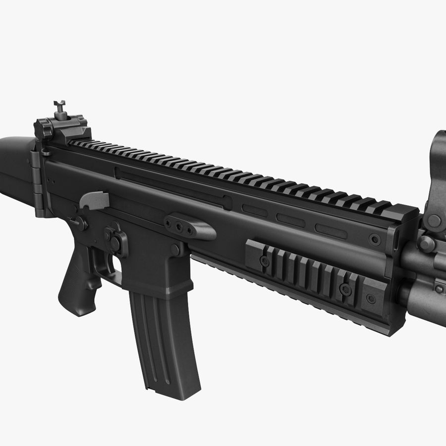 Assault Rifle SCAR royalty-free 3d model - Preview no. 17