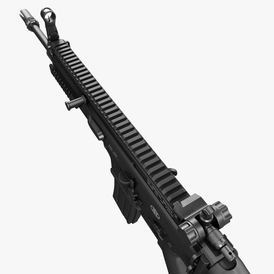Assault Rifle SCAR royalty-free 3d model - Preview no. 14