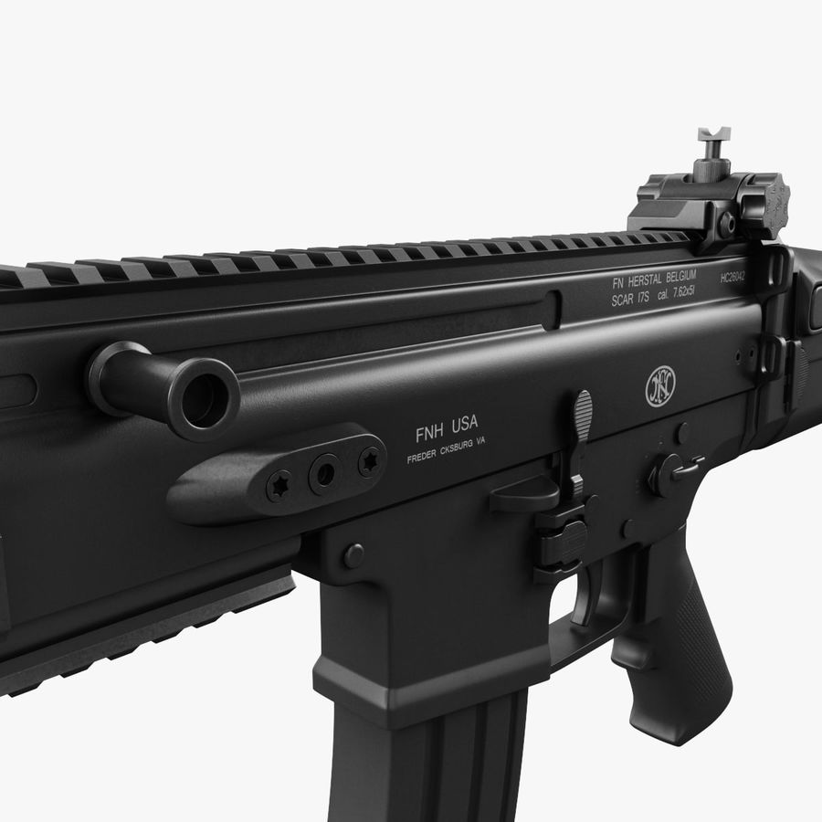 Assault Rifle SCAR royalty-free 3d model - Preview no. 16