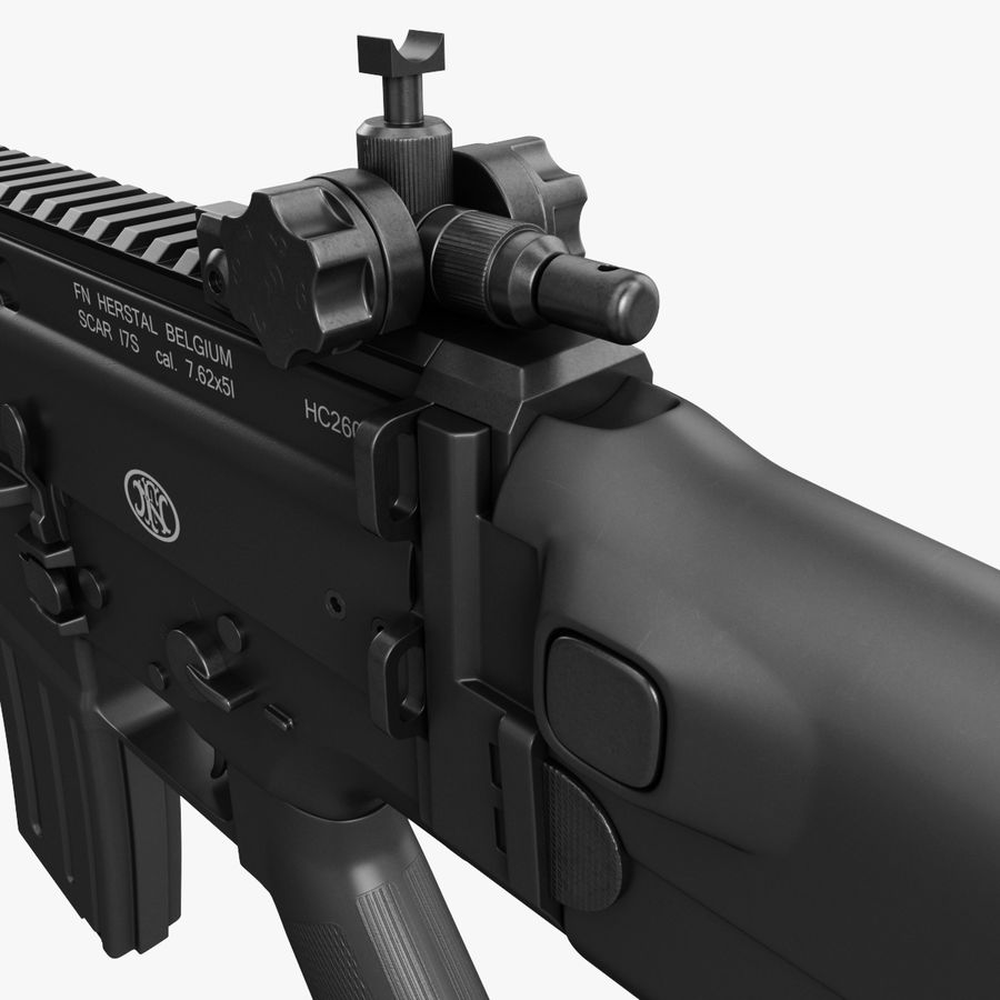 Assault Rifle SCAR royalty-free 3d model - Preview no. 19