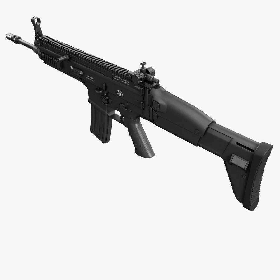 Assault Rifle SCAR royalty-free 3d model - Preview no. 11