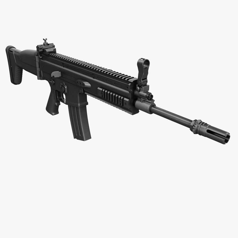 Assault Rifle SCAR royalty-free 3d model - Preview no. 5