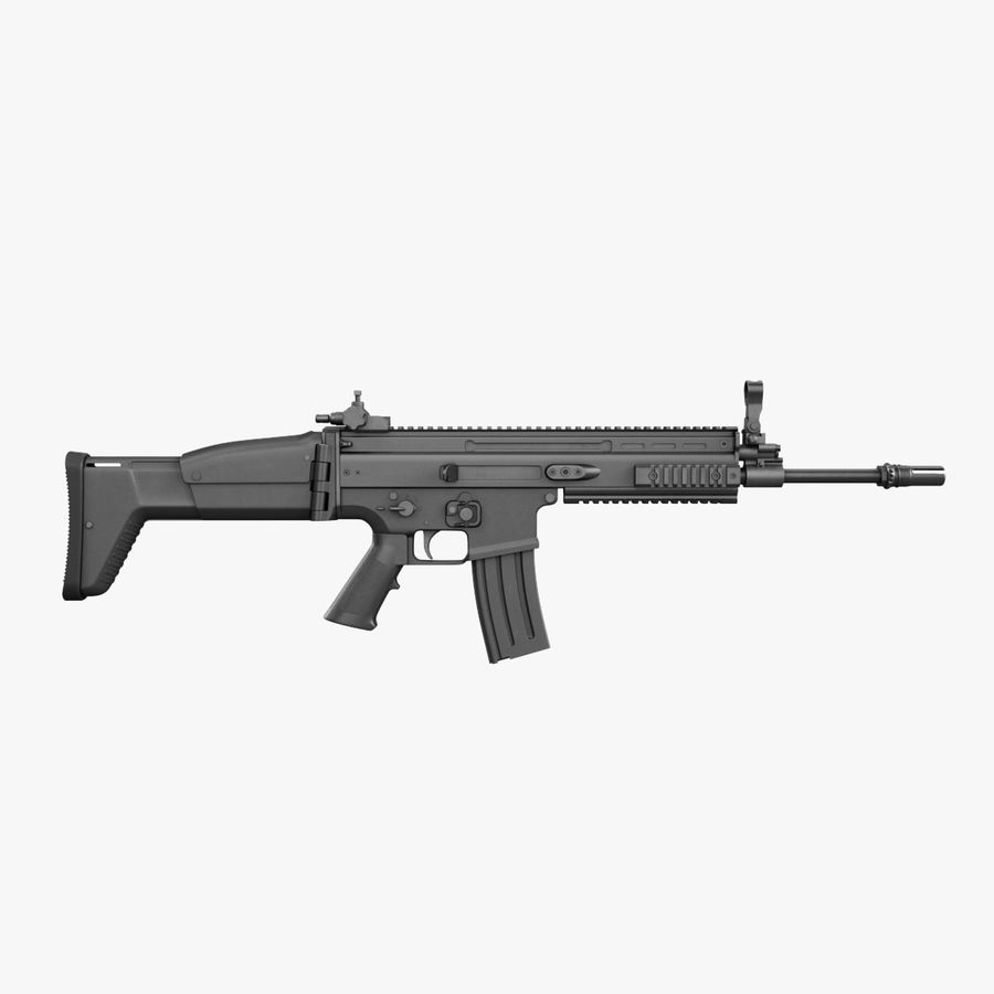 Assault Rifle SCAR royalty-free 3d model - Preview no. 3