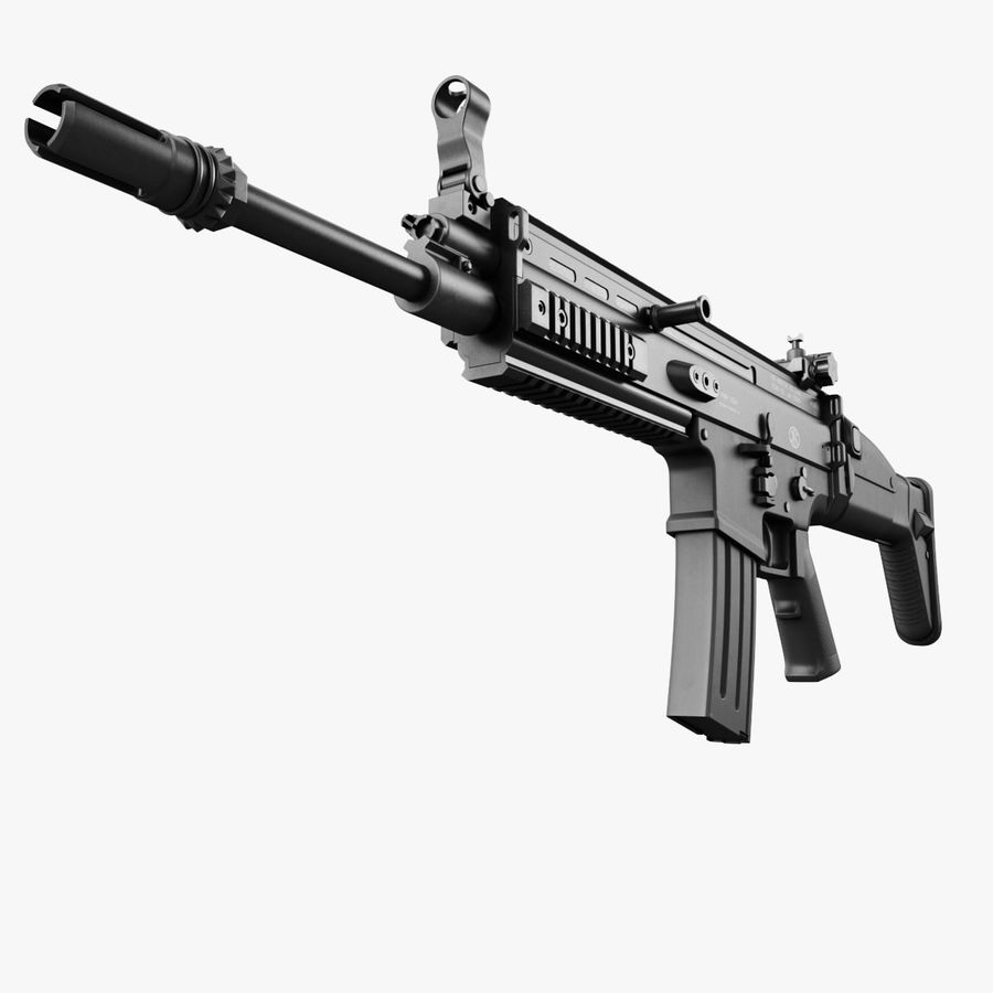 Assault Rifle SCAR royalty-free 3d model - Preview no. 20