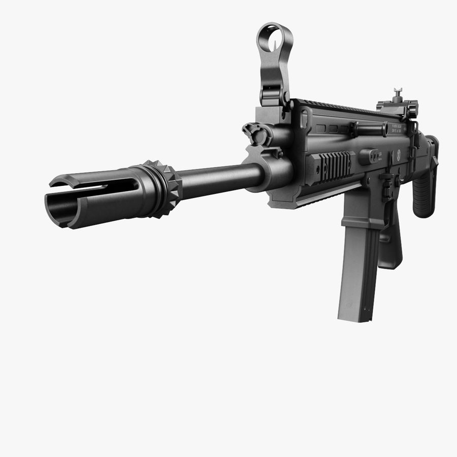 Assault Rifle SCAR royalty-free 3d model - Preview no. 7