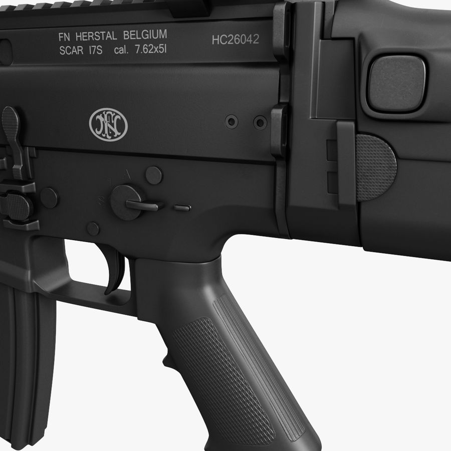 Assault Rifle SCAR royalty-free 3d model - Preview no. 15