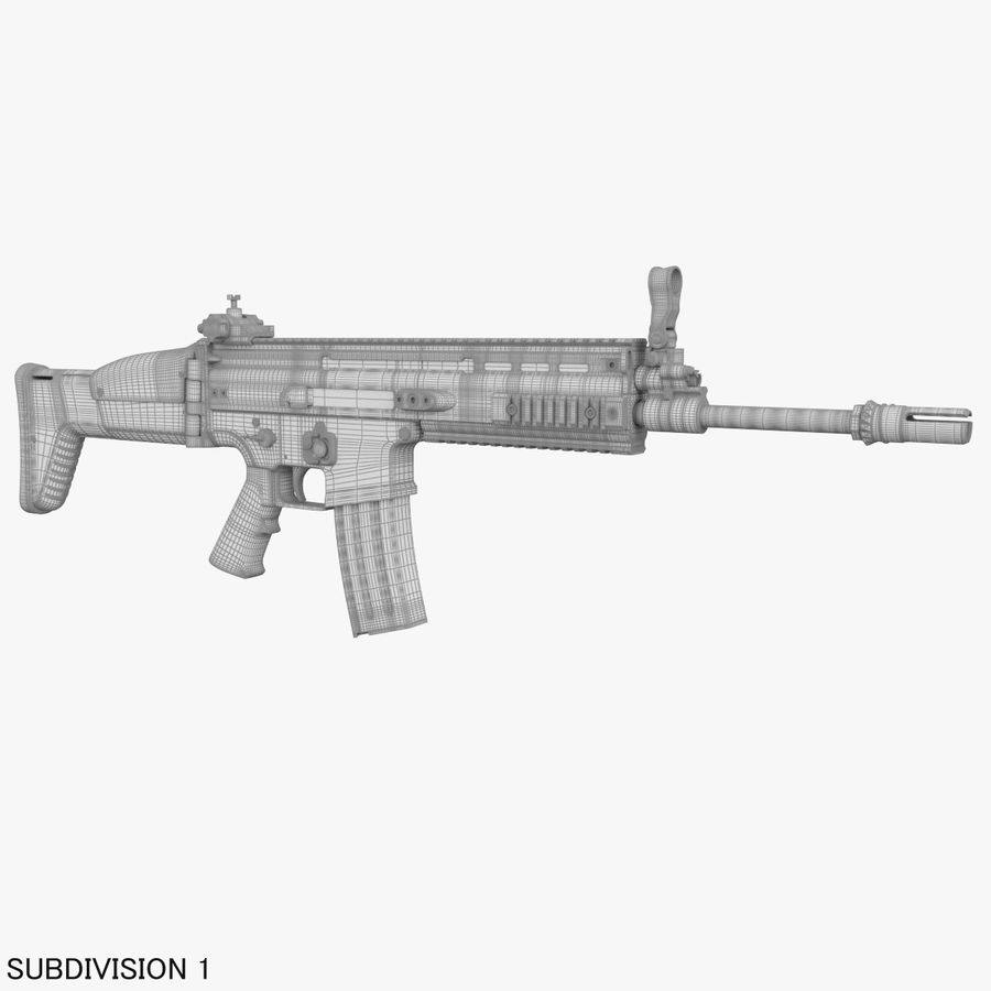 Assault Rifle SCAR royalty-free 3d model - Preview no. 25