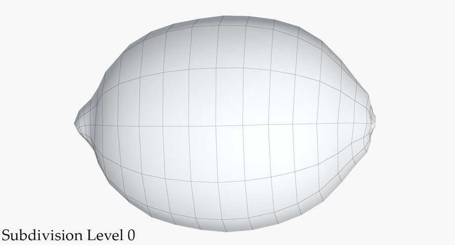 Citroen fruit royalty-free 3d model - Preview no. 16