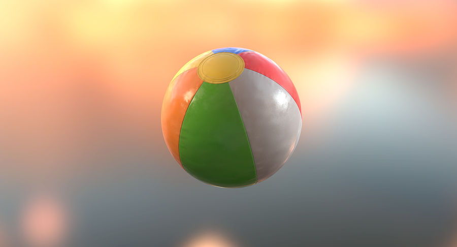 沙滩球 royalty-free 3d model - Preview no. 6