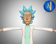 Rick Sanchez 3d Rigged Animated 3d model