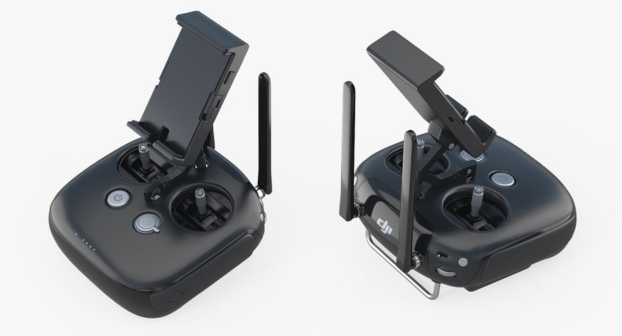 DJI INspire 1 Black Edition Fernbedienung royalty-free 3d model - Preview no. 6