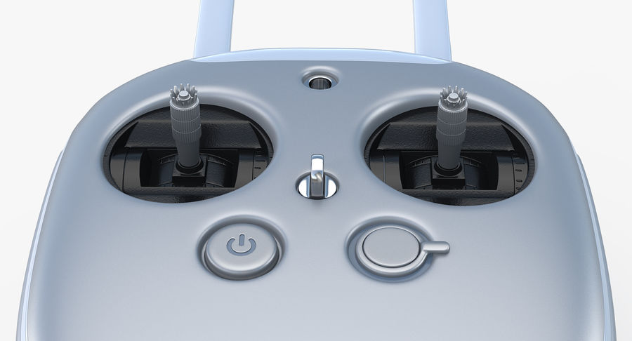 DJI Inspire 1 Remote Controller royalty-free 3d model - Preview no. 6