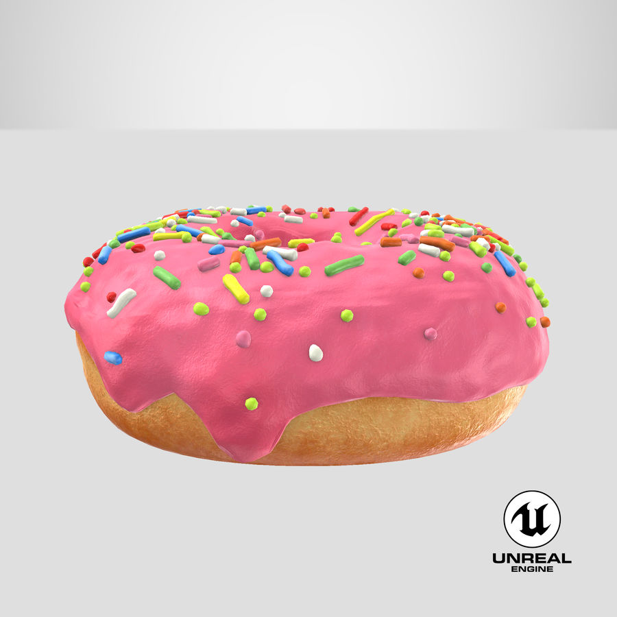 Donut 03 - Pink royalty-free 3d model - Preview no. 26