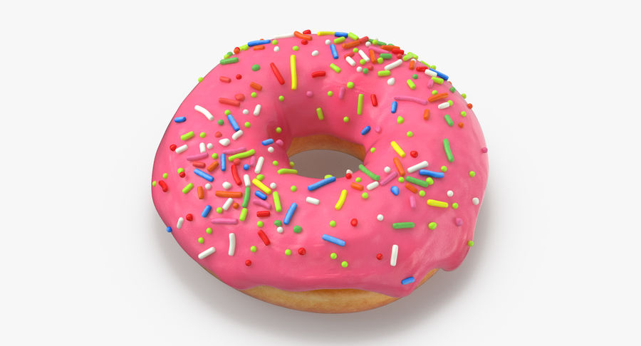 Donut 03 - Pink royalty-free 3d model - Preview no. 3