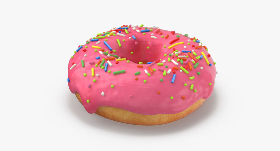 Donut 03 - Pink royalty-free 3d model - Preview no. 7
