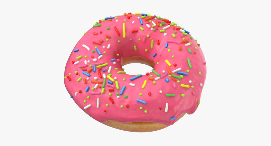 Donut 03 - Pink royalty-free 3d model - Preview no. 2
