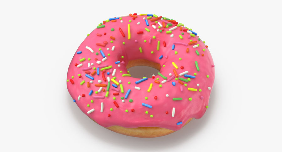 Donut 03 - Roze royalty-free 3d model - Preview no. 3