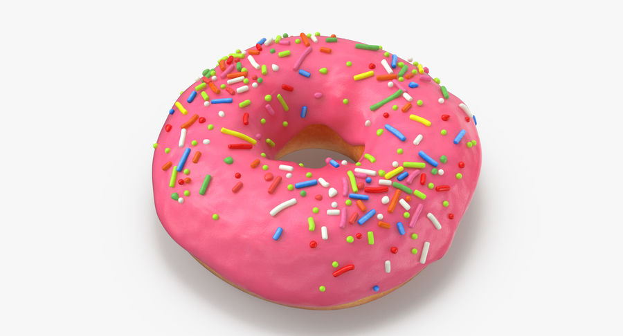 Donut 03 - Roze royalty-free 3d model - Preview no. 4