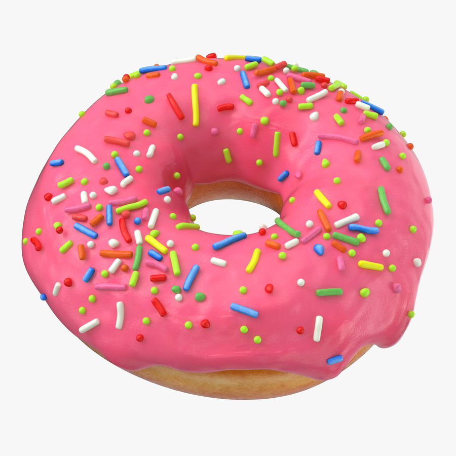 Donut 03 - Roze royalty-free 3d model - Preview no. 1