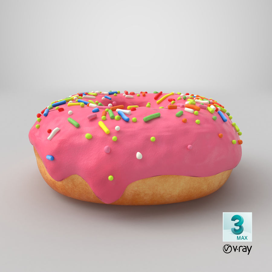 Donut 03 - Pink royalty-free 3d model - Preview no. 23