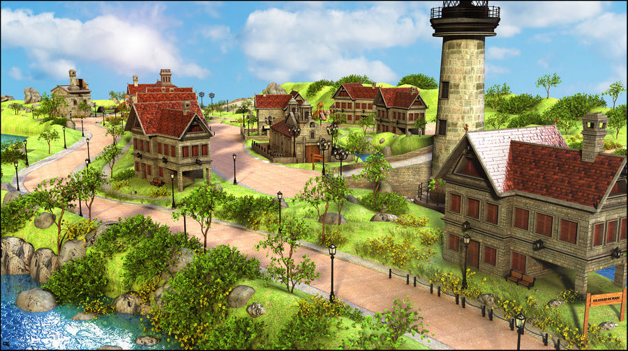 Small Village royalty-free 3d model - Preview no. 2