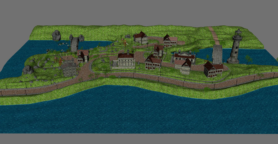 Small Village royalty-free 3d model - Preview no. 4