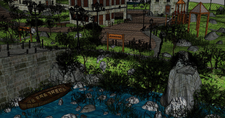 Small Village royalty-free 3d model - Preview no. 17