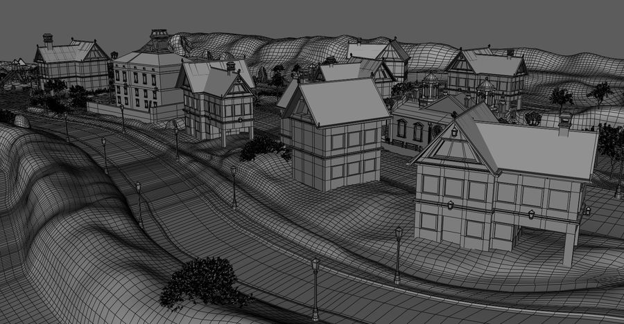 Small Village royalty-free 3d model - Preview no. 14