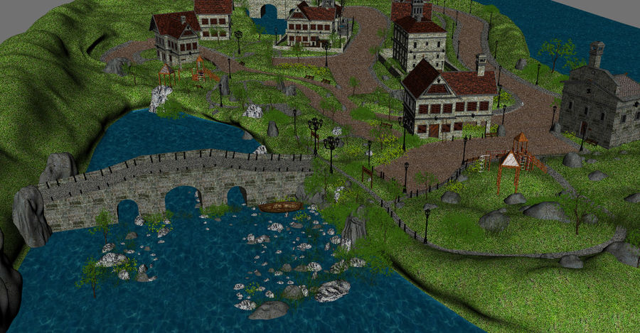 Small Village royalty-free 3d model - Preview no. 7