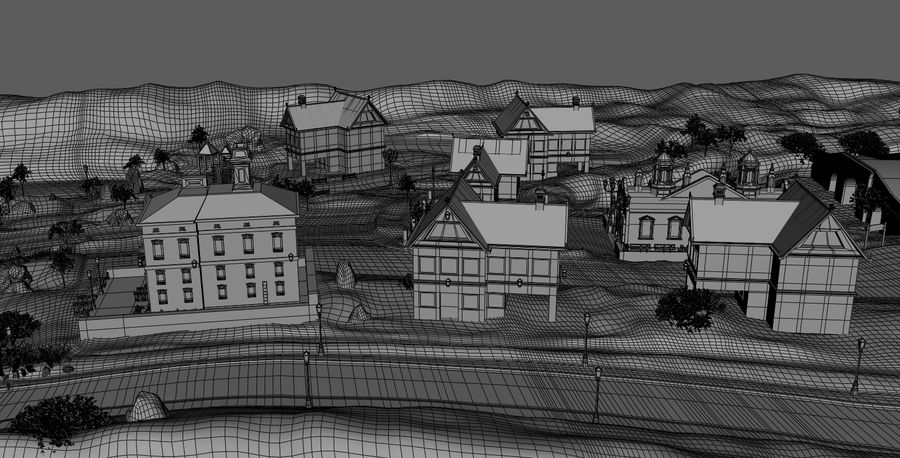 Small Village royalty-free 3d model - Preview no. 13