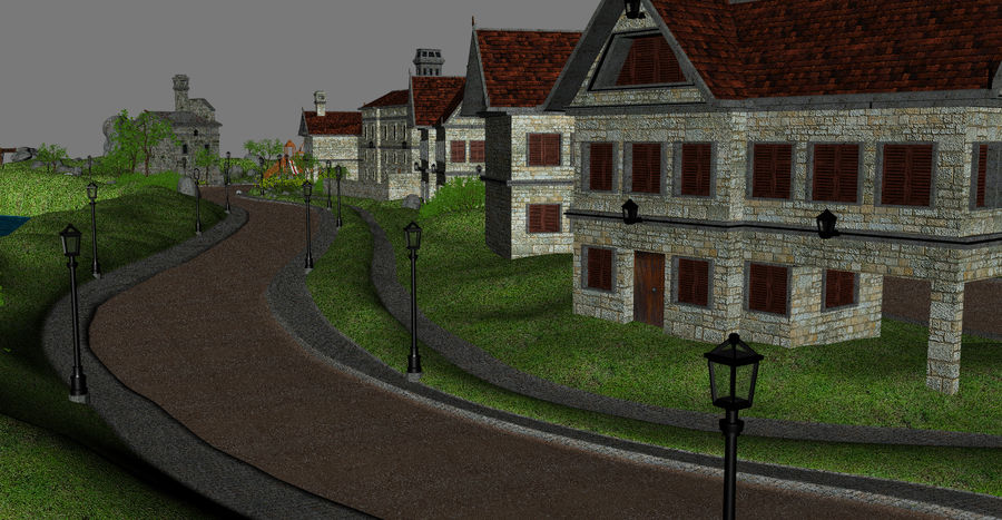 Small Village royalty-free 3d model - Preview no. 6