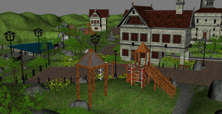 Small Village royalty-free 3d model - Preview no. 8