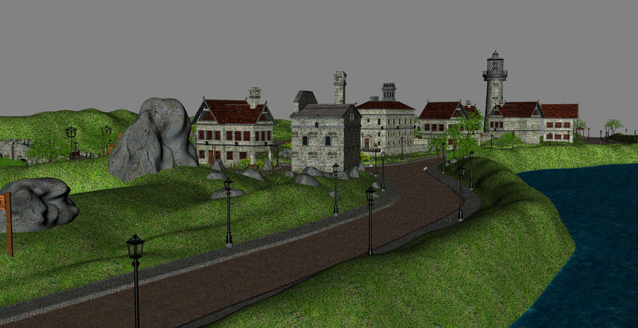 Small Village royalty-free 3d model - Preview no. 11