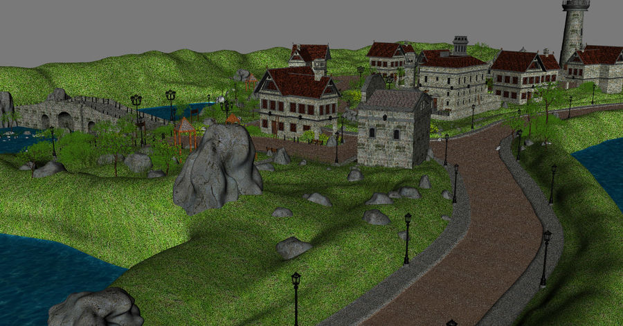 Small Village royalty-free 3d model - Preview no. 5
