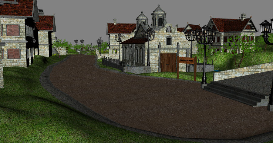 Small Village royalty-free 3d model - Preview no. 10