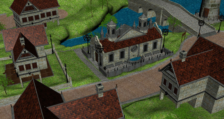Small Village royalty-free 3d model - Preview no. 9