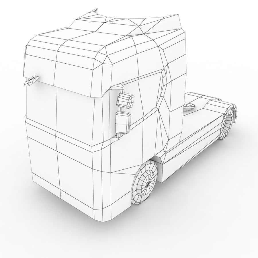 Scania S 730 2016 cargo box royalty-free 3d model - Preview no. 12