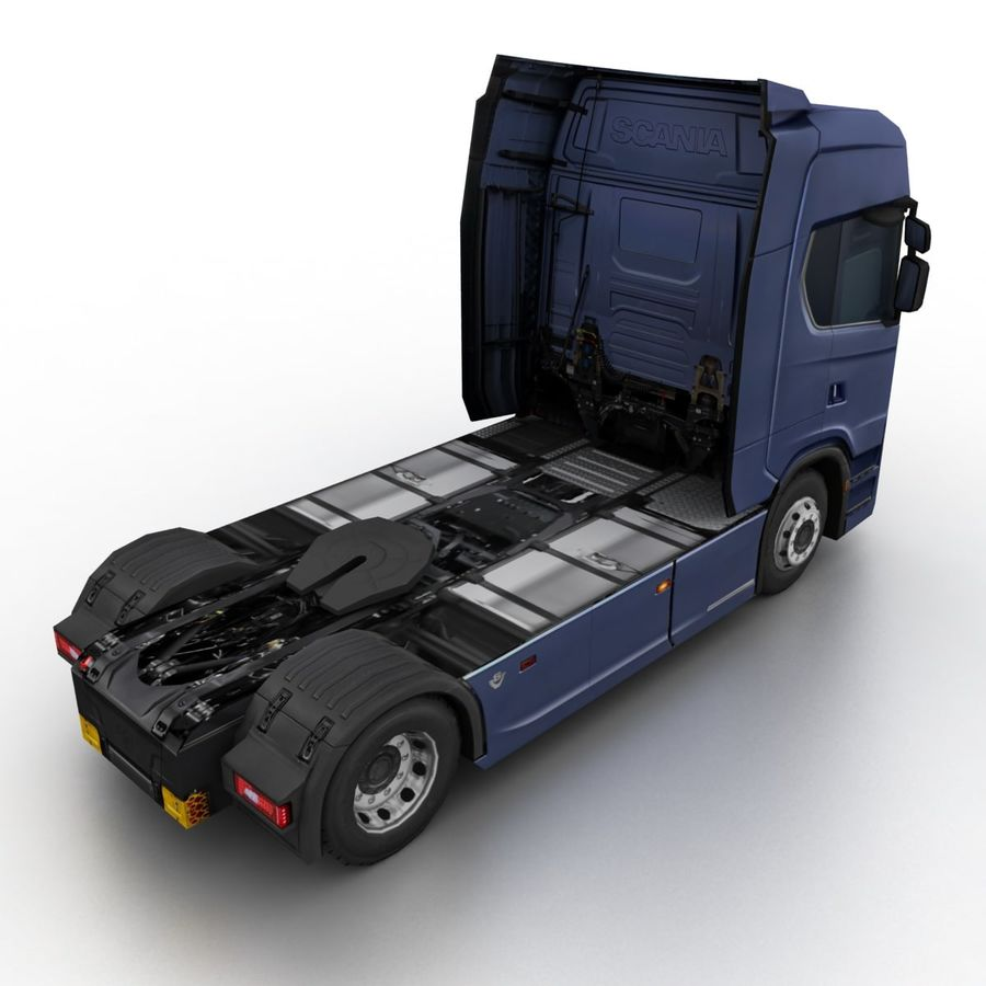 Scania S 730 2016 cargo box royalty-free 3d model - Preview no. 9