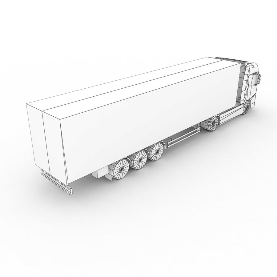 Scania S 730 2016 cargo box royalty-free 3d model - Preview no. 11