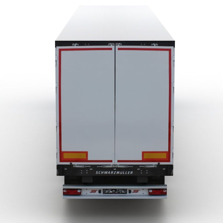 Scania S 730 2016 cargo box royalty-free 3d model - Preview no. 5