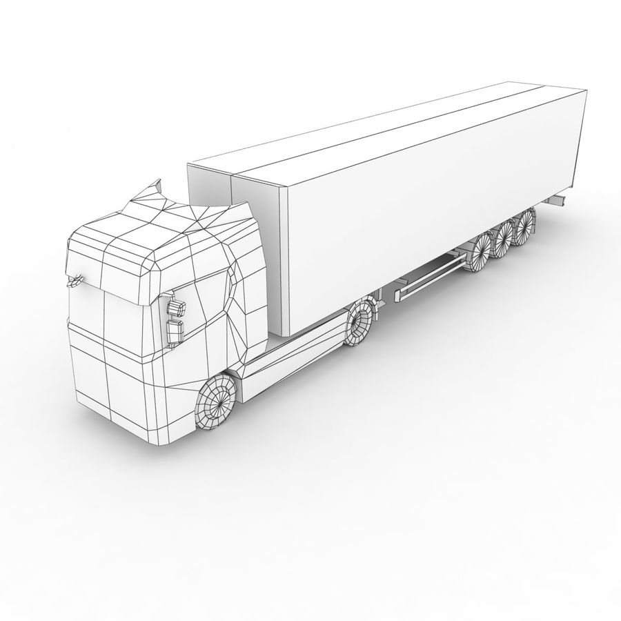 Scania S 730 2016 cargo box royalty-free 3d model - Preview no. 10