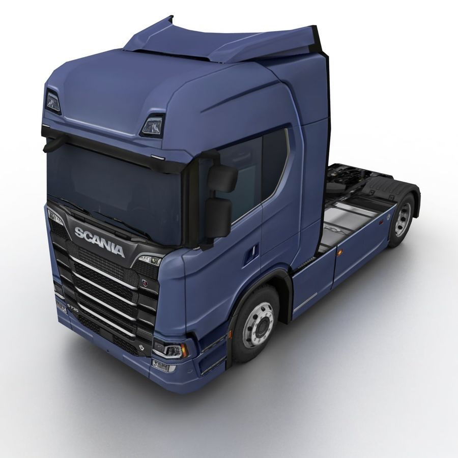 Scania S 730 2016 cargo box royalty-free 3d model - Preview no. 8