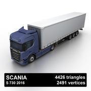 Scania S 730 2016 cargo box 3d model