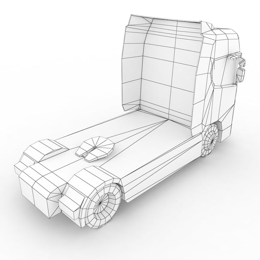Scania S 730 2016 cargo box royalty-free 3d model - Preview no. 13
