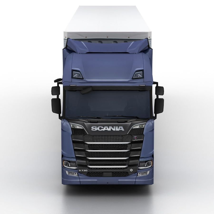 Scania S 730 2016 cargo box royalty-free 3d model - Preview no. 4
