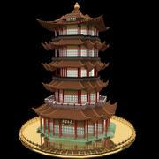 Torre china modelo 3d