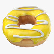 Donut 05 - Yellow 3d model
